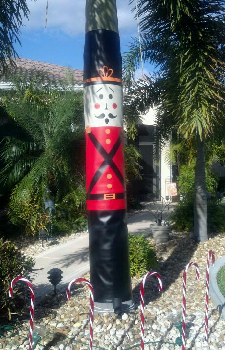 Holiday Toy Soldier Column Wrap Allenhomedesign
