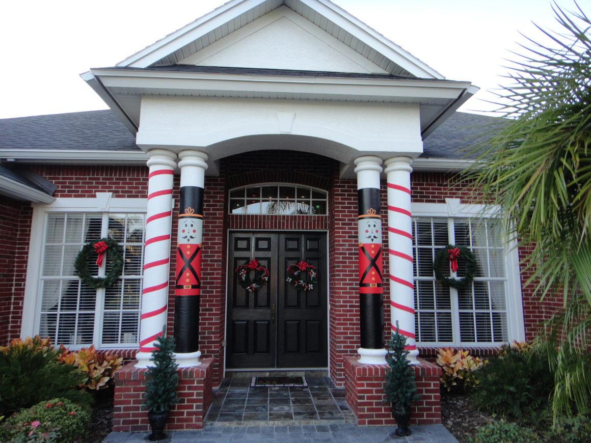 Christmas Holiday Column Covers for Easy Decorating